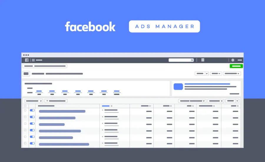 O Facebook Ads tem um painel para acompanhar as performances dos anúncios