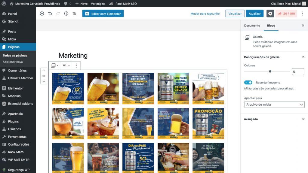 O painel de edição do WordPress corta caminho na hora de desenvolver essa ferramenta