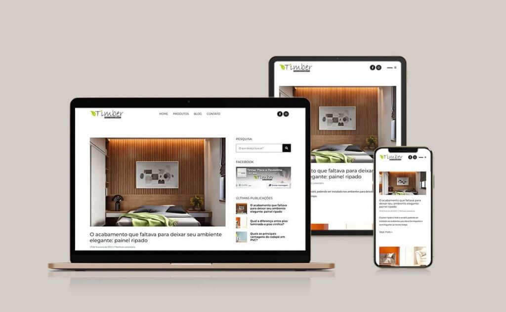 Implementação do blog no site da Timber Pisos e Revestimentos