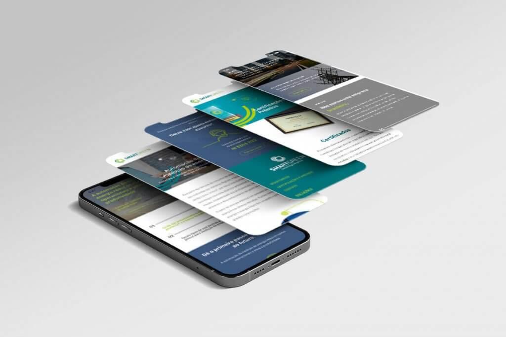 Todo o site foi pensado para mostrar as características técnica dos produtos e serviços que a empresa oferece